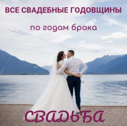 Свадьба и все годовщины свадьбы: от 1 года до 100 лет. Какие традиции и приметы есть у каждой годовщины и идеи подарков #свадьбамоеймечты