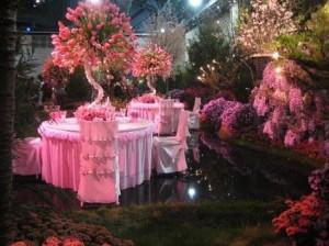 Зал для Розовой свадьбы