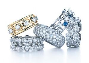 Кольца для супругов с бриллиантами на 60 лет свадьбы