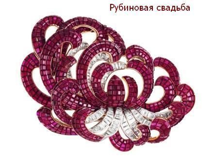 Подарок на Рубиновую свадьбу