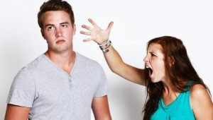 ссора в молодой семье, переходящая в свару