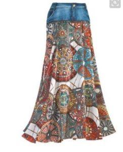 новая юбка из старых джинс