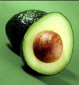 авокадо в разрезе для лица