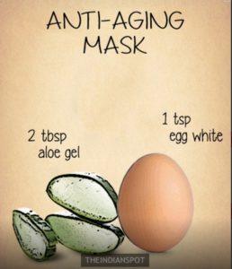 состав антивозрастной маски для лица с алоэ