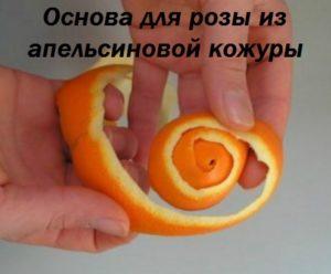 роза из апельсиновых корок