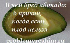 фото авокадо и надпись о вреде плода