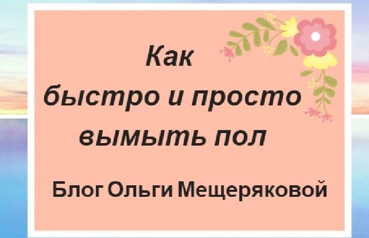Как быстро и просто вымыть пол — надпись на розовом фоне и рисунке цветка